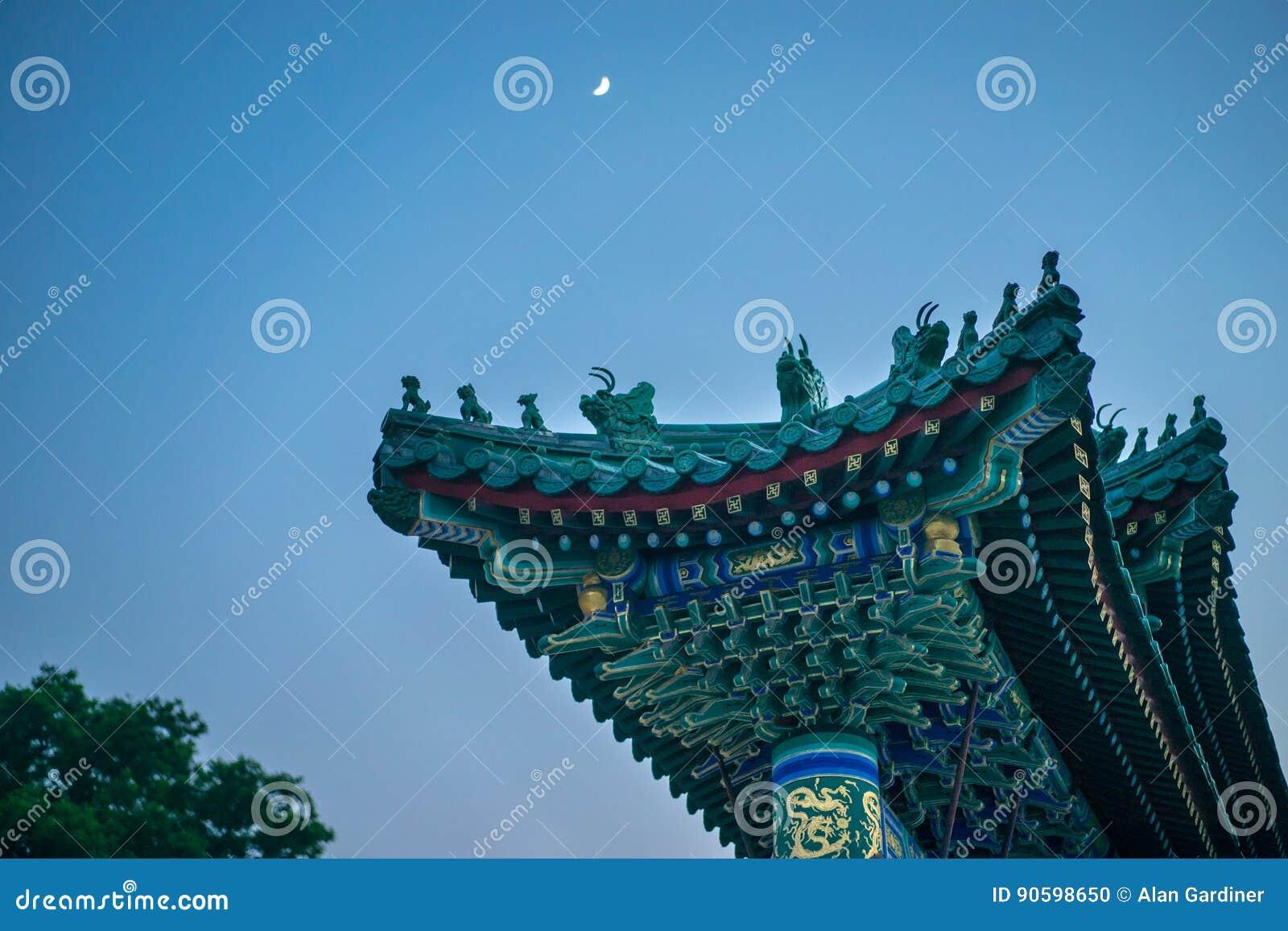 Tor zu Jade Flower Island in Beihai-Park, Peking, China