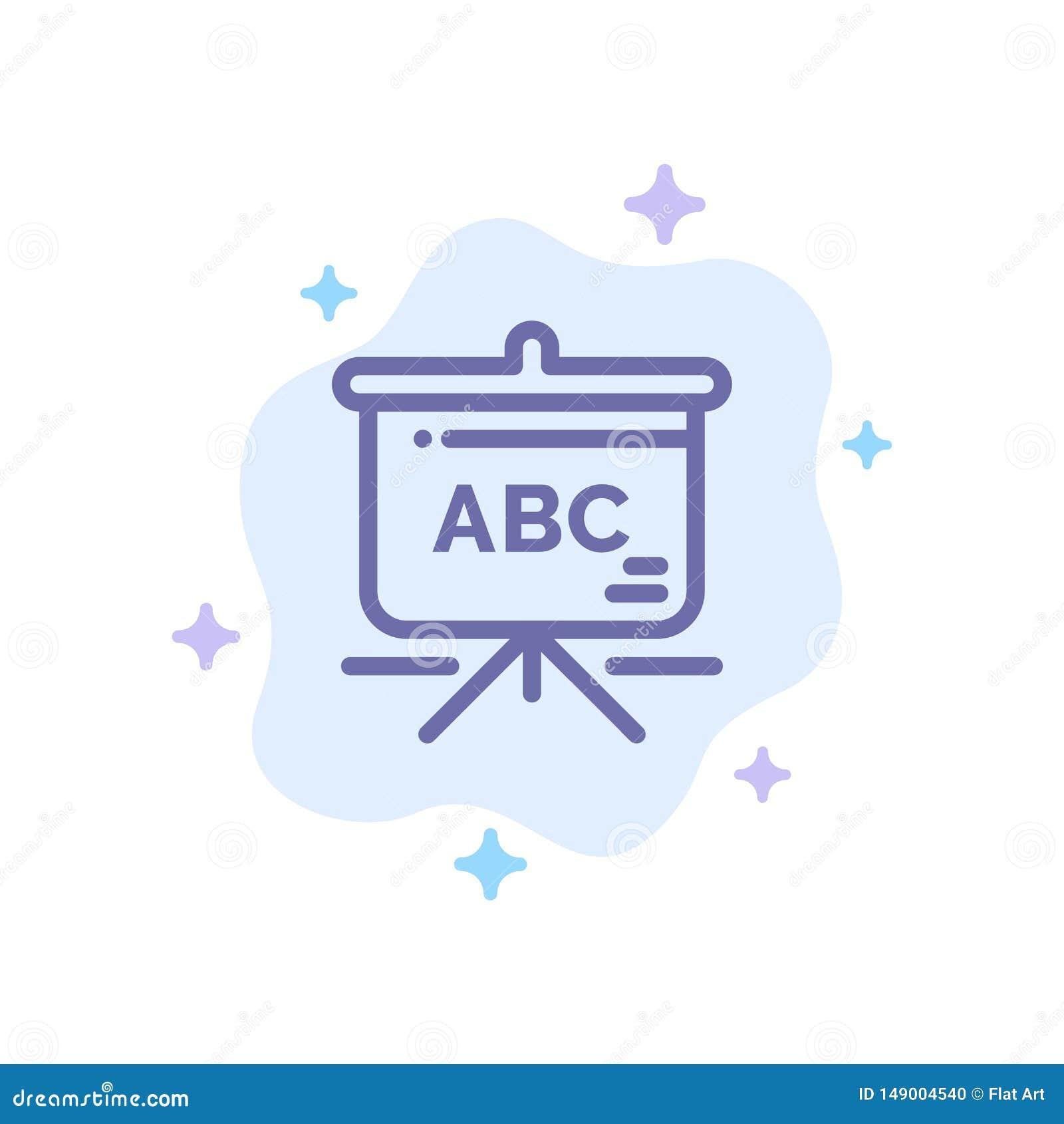 Torba, edukacja, Schoolbag Błękitna ikona na abstrakt chmury tle