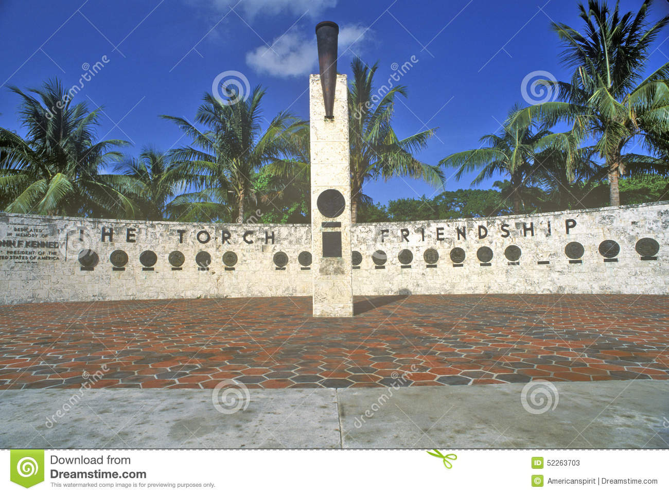 The Torch of Friendship at Bayside Park, Miami, Florida