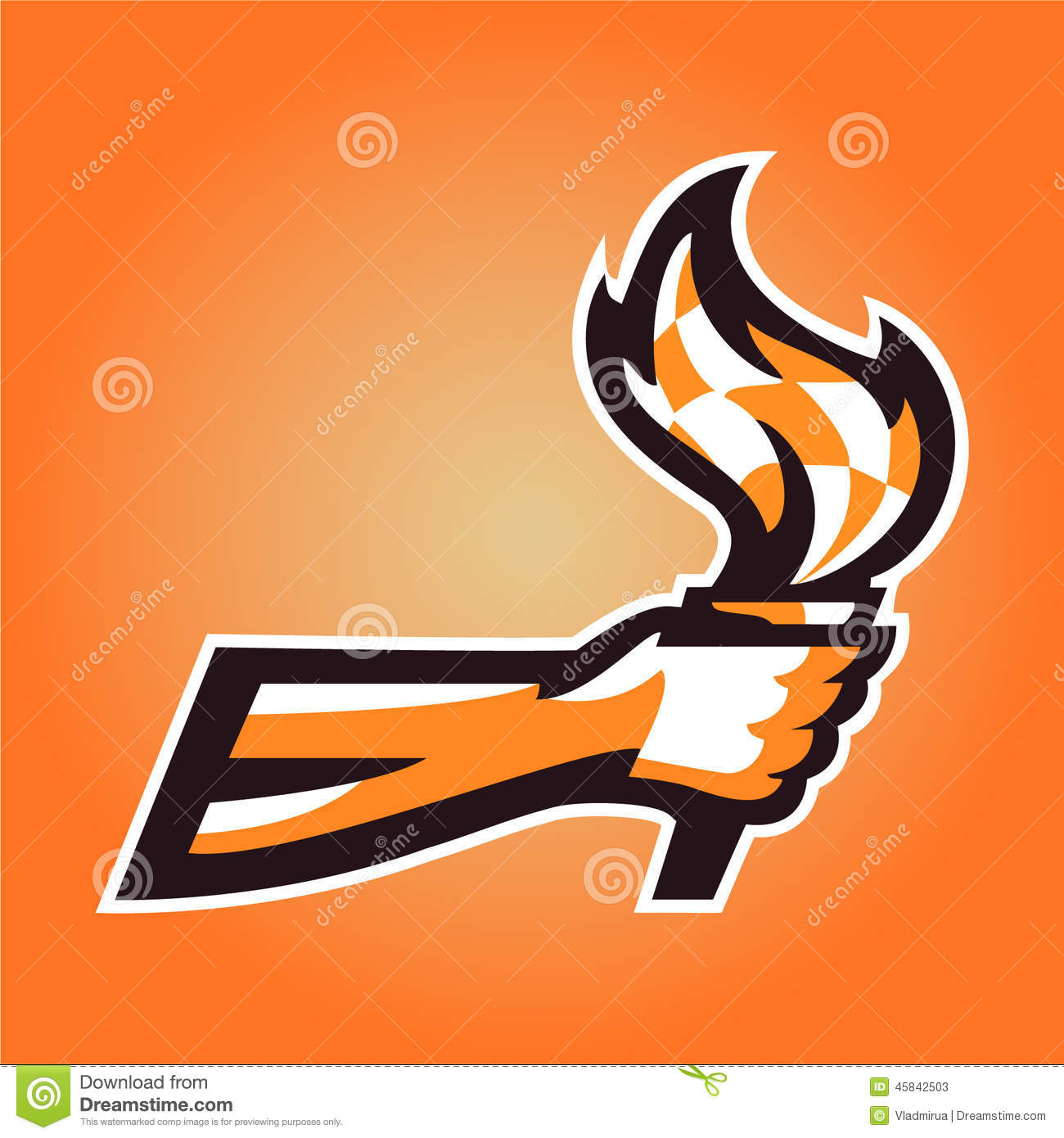 torch in hand stock vector image 45842503 torch in hand