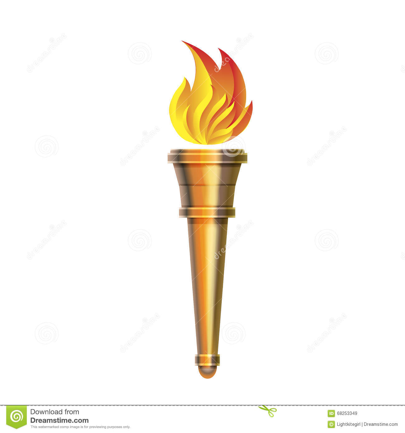 Torch Icon - Vector Hot Flame, Power Flaming, Stock Vector ... for Olympic Torch Fire  11lplpg