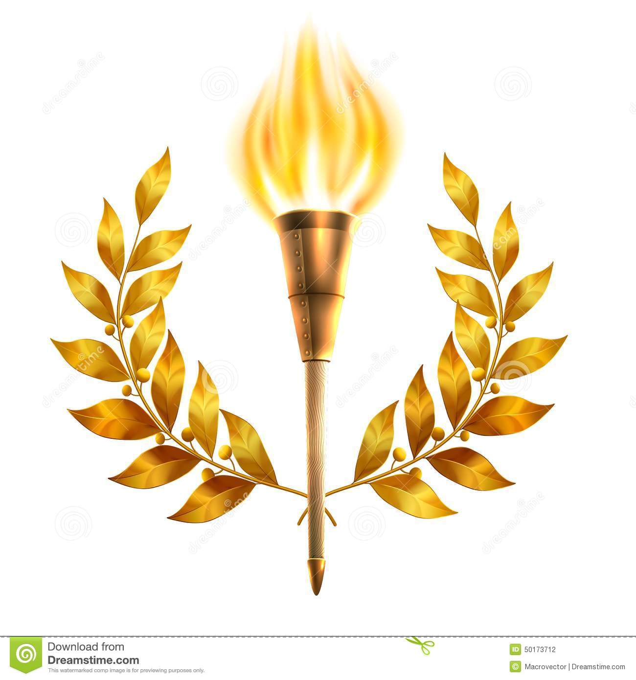 Torch And Laurel Wreath