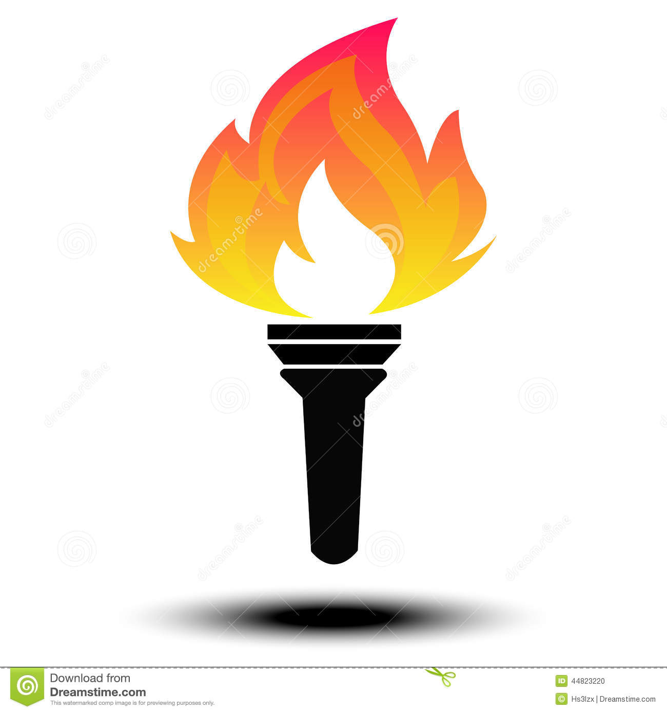 Torch Vector Stock Vector Image 44823220