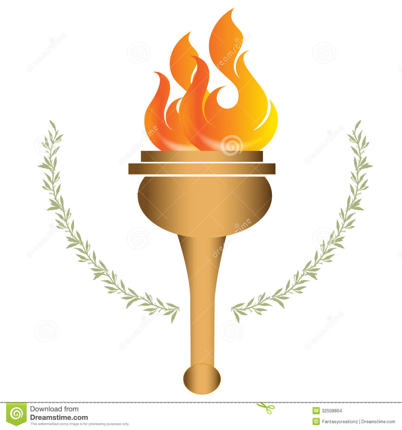 Torche olympique images stock image 32508804 - Flamme olympique dessin ...