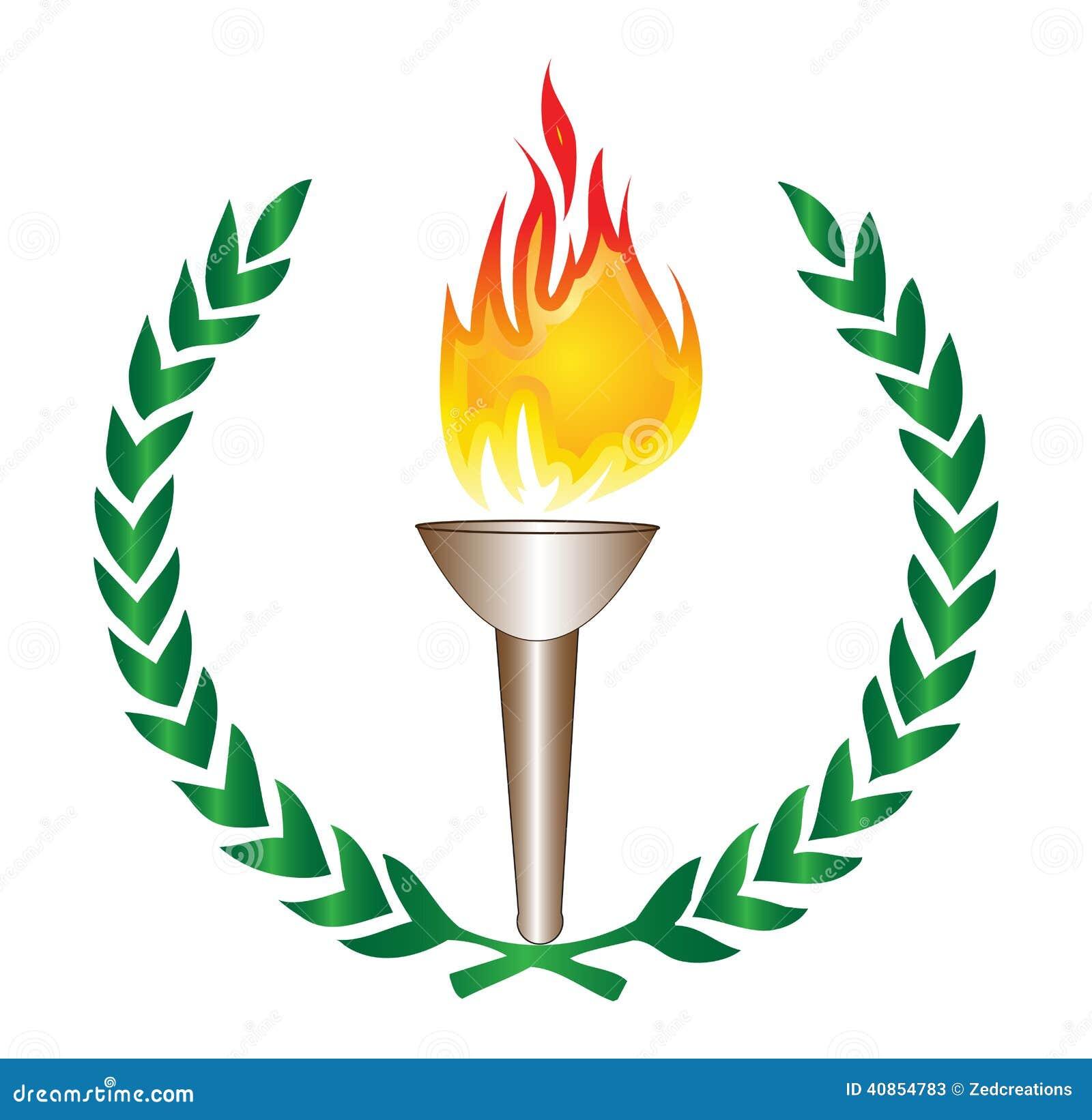 Torche olympique illustration de vecteur illustration du - Flamme olympique dessin ...