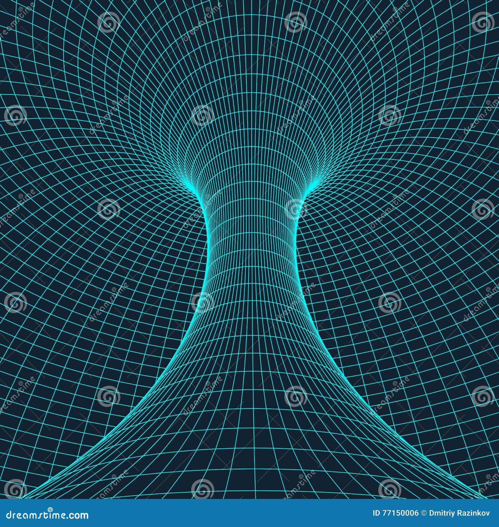 Tore de Wireframe avec les lignes et les points reliés Élément polygonal de maille Illustration EPS10 de vecteur
