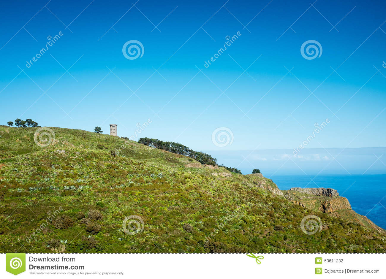 Toren op de heuvel