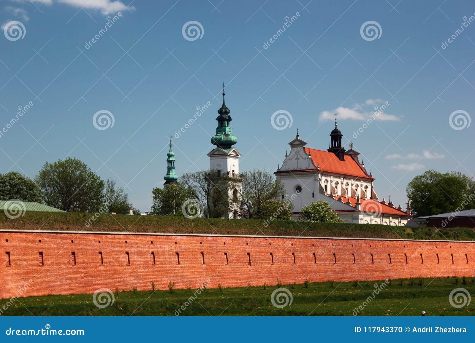 Torens van Stadhuis in Zamosc, Oostelijk Polen