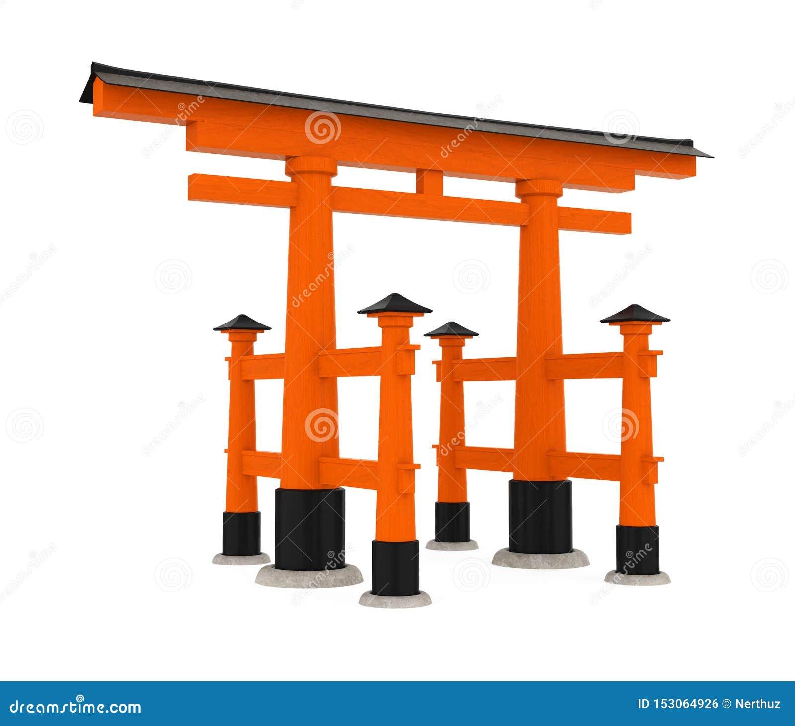 Torii Tradycyjna Japońska brama Odizolowywająca