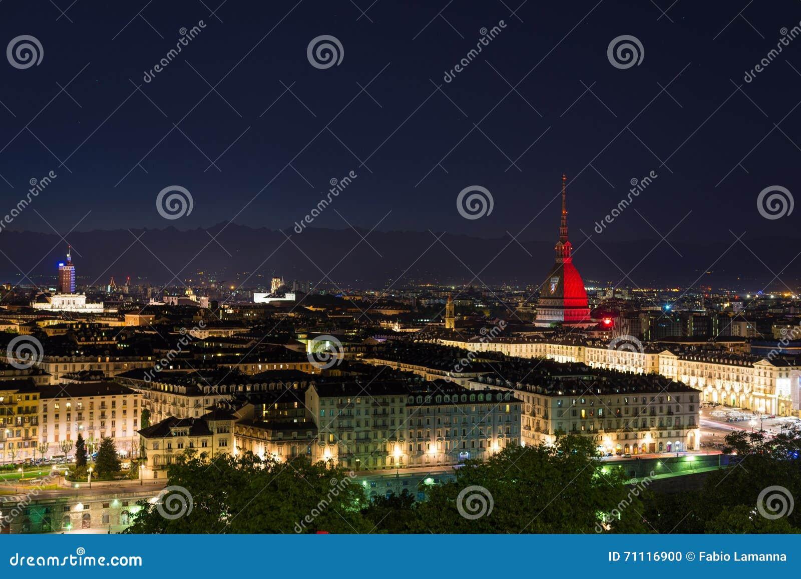 Torino (Turin, Italien), Granat färbte Mole Antonelliana