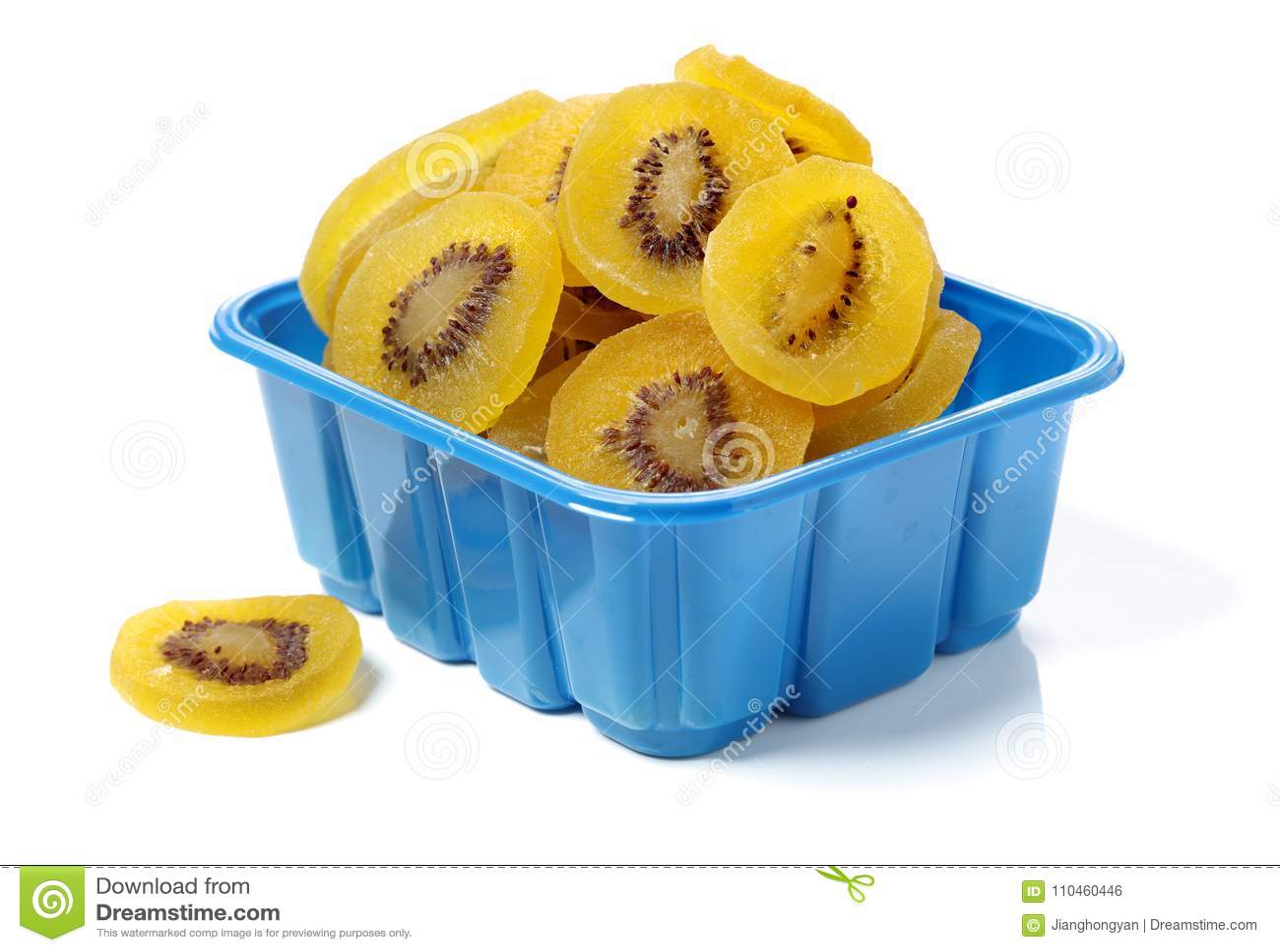 Torkad kiwi, torkat bevarat kanderat kiwifruitskivasocker Ingredienser som är sunda