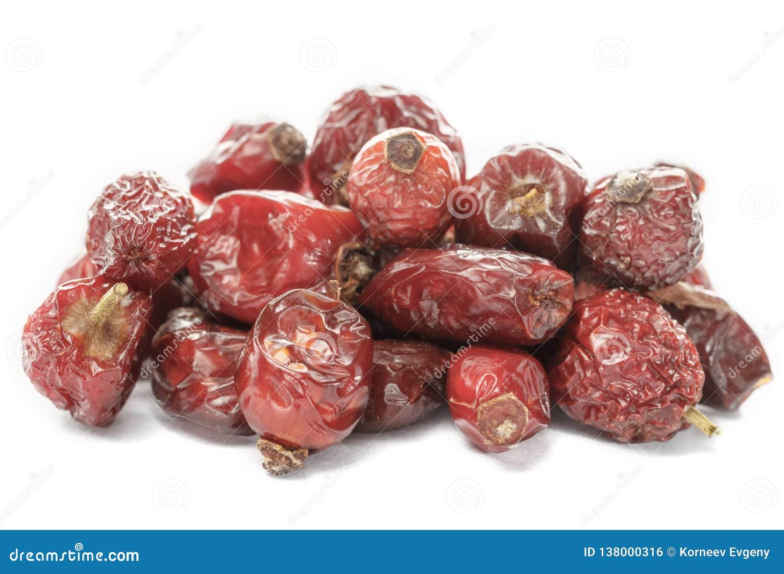 Torkade bär av rosa höfter torkade frukter dietary produkt