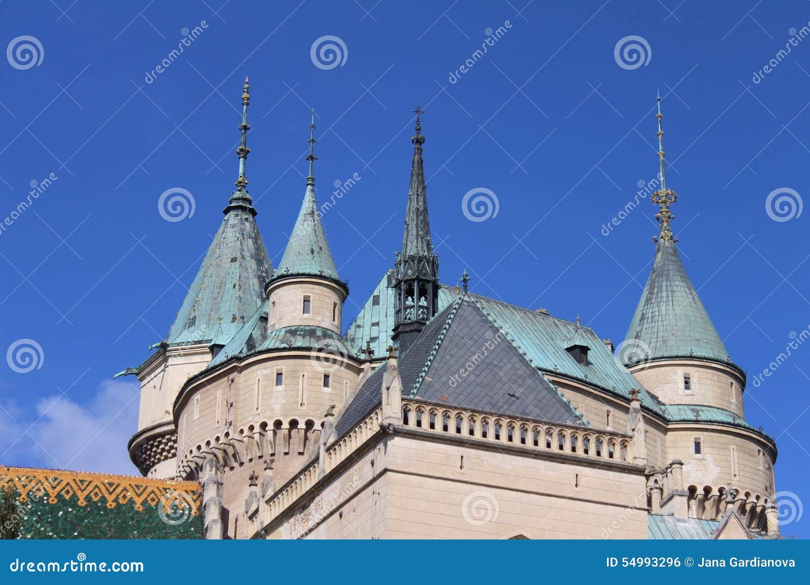 Torn av den Bojnice slotten, Slovakien