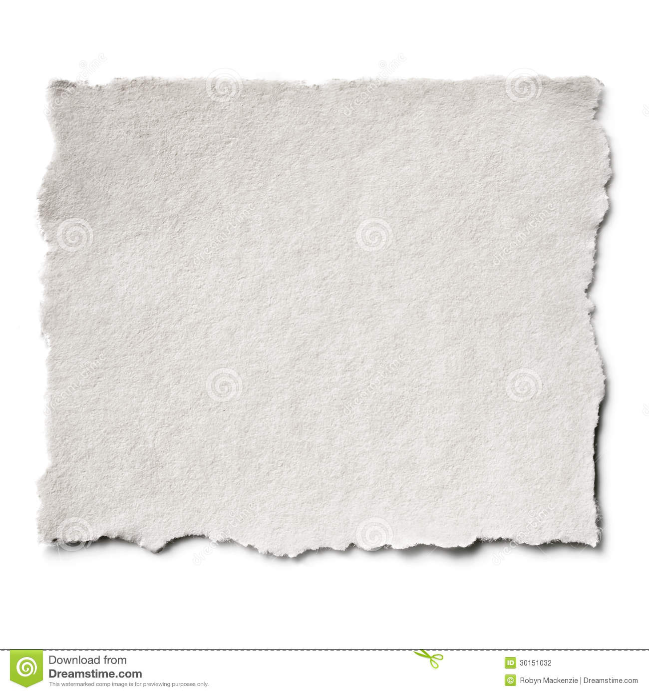 Torn Paper Isolated Stock Photography Image 30151032