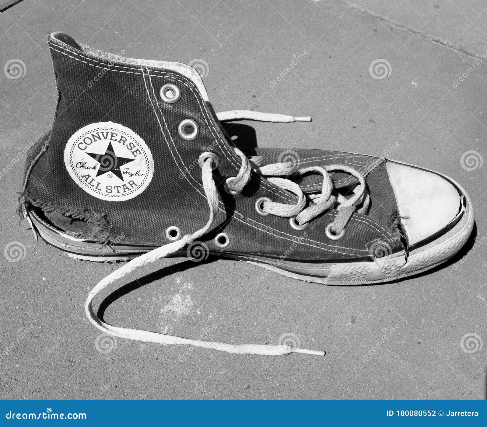 1075d841e839de Torn Converse All Star editorial photography. Image of canvas ...