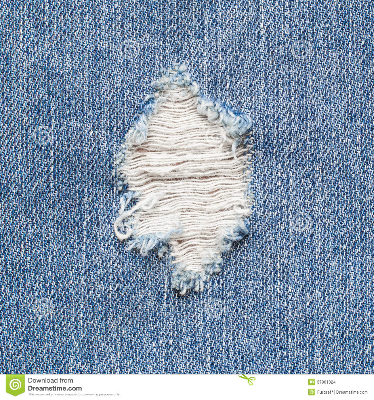Torn Denim Stock Images Image 37801024