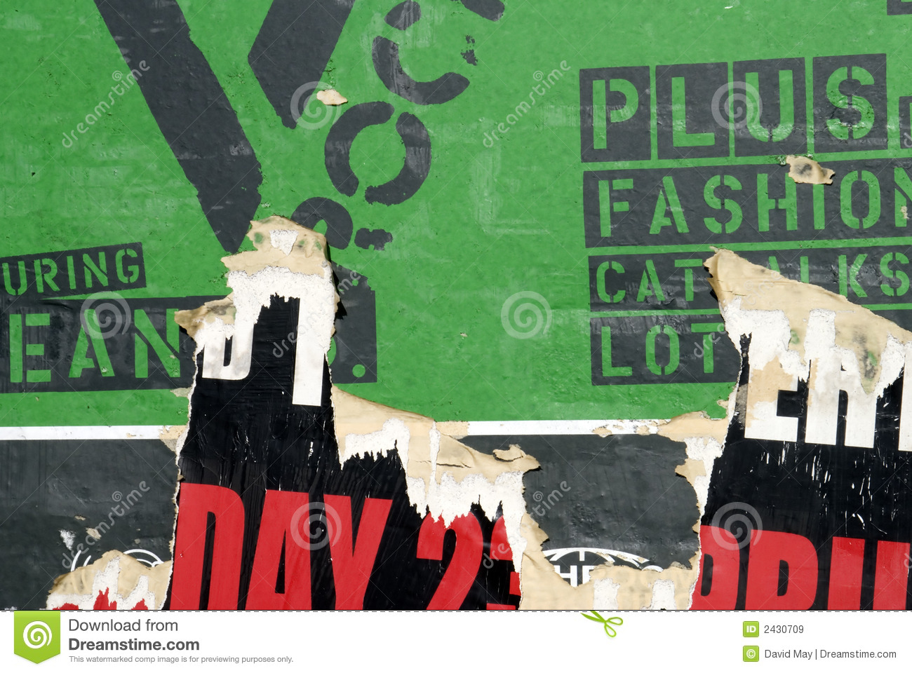 Torn Green Wall Poster Royalty Free Stock Images Image