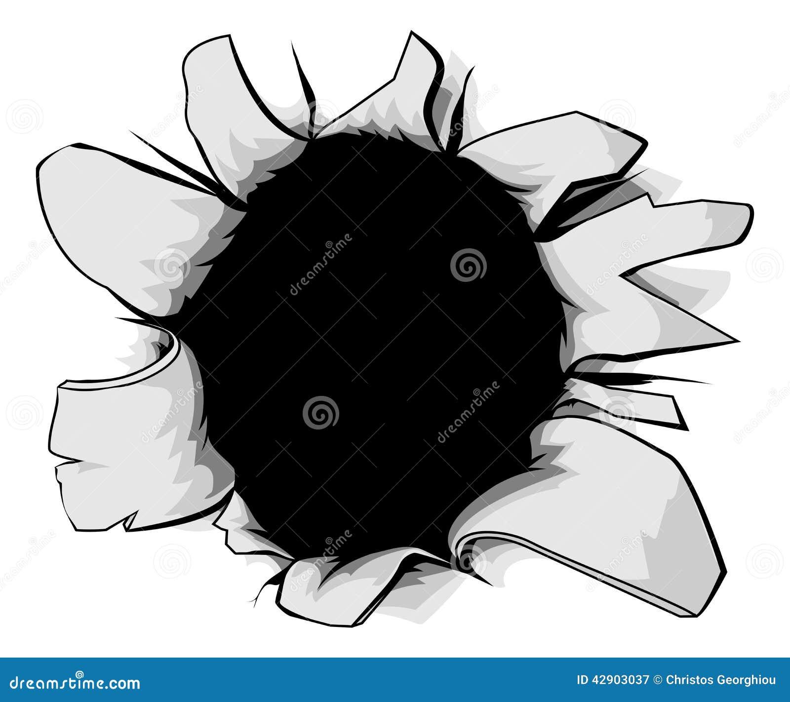 Torn Hole Stock Vector. Image Of Monster, Crack, Bullit