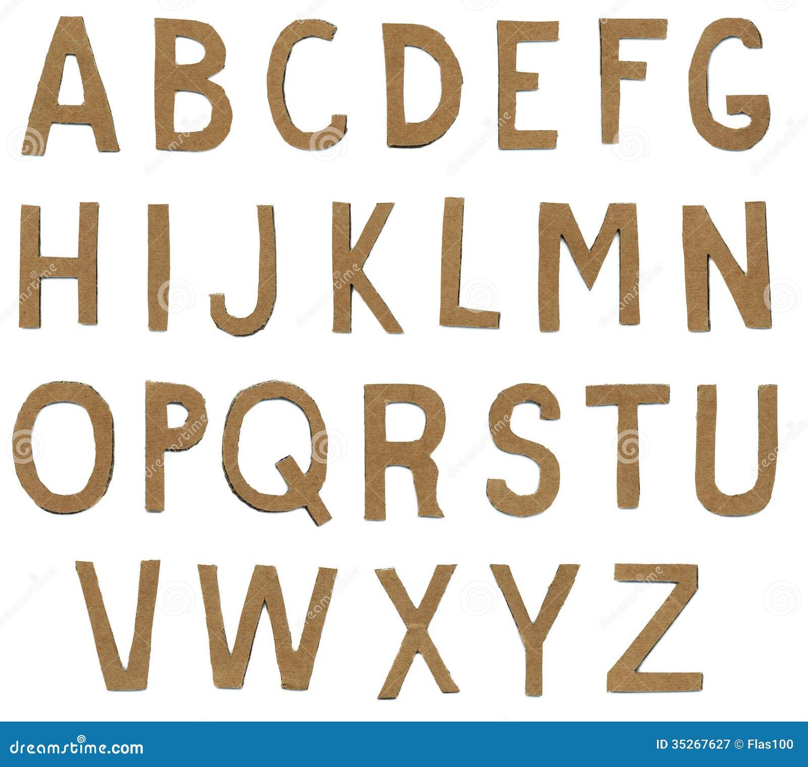 Torn paper alphabet letters stock image image 35267627 for Alphabet letters cardboard