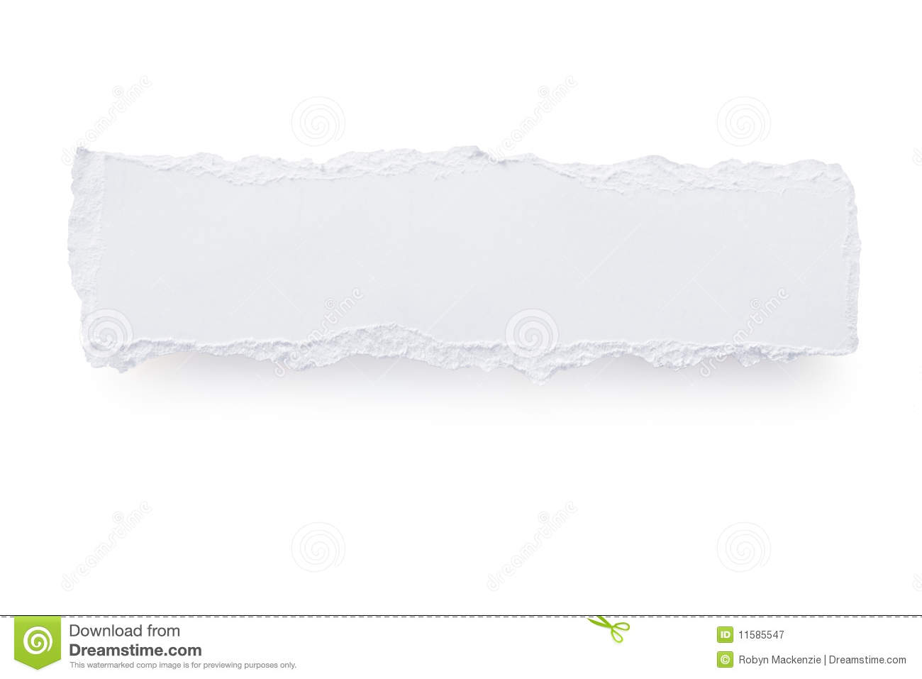 Torn Paper Banner Royalty Free Stock Photography - Image: 11585547