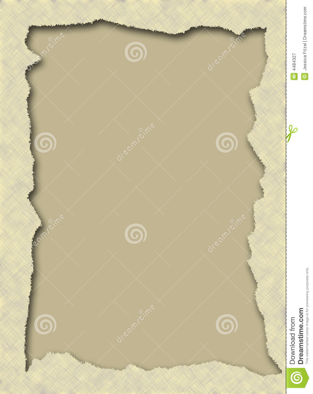 Torn Paper Frame Royalty Free Stock Photography Image