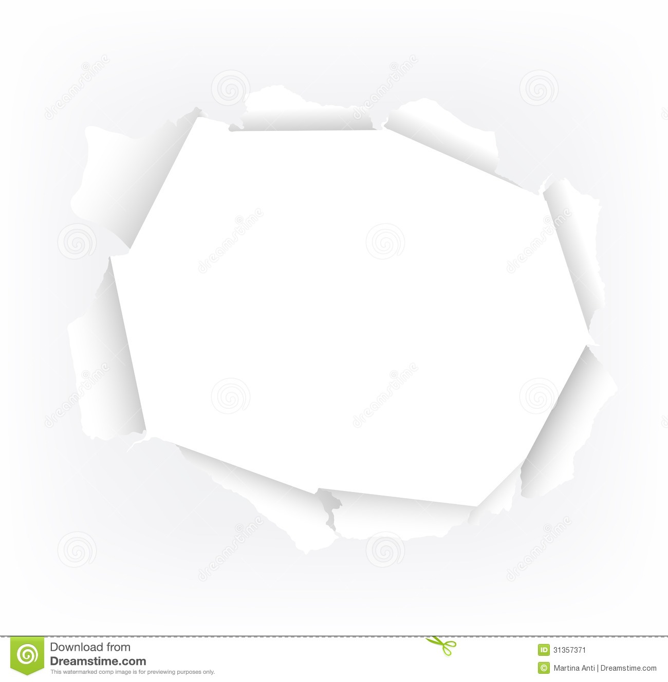 torn paper hole stock image