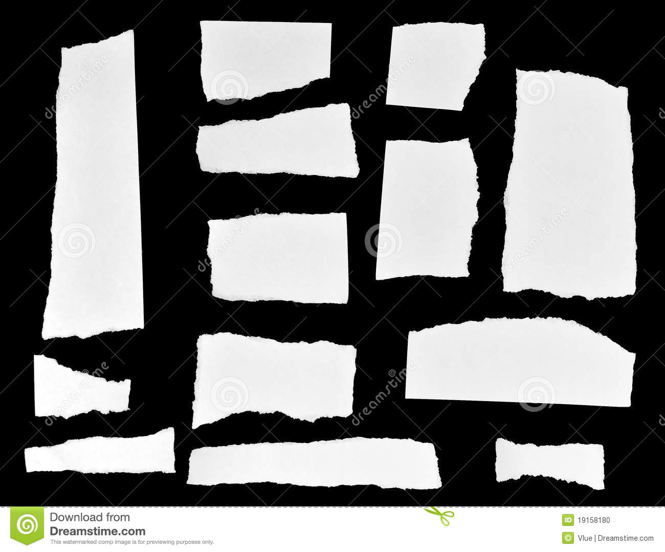 torn paper note pieces stock photo image of paper fuzzy