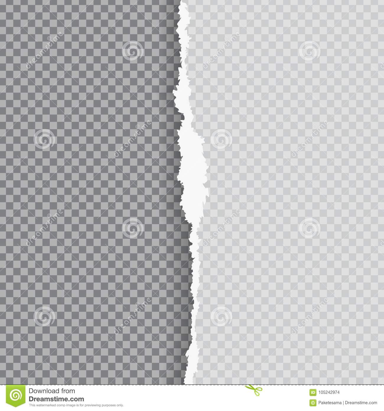 Torn Paper With Ripped Edge Stock Vector - Illustration of blank ...