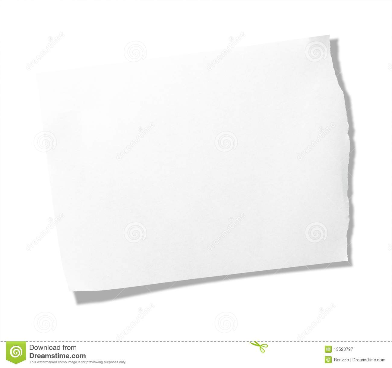 torn piece of memo pad paper stock image - image of grunge, piece