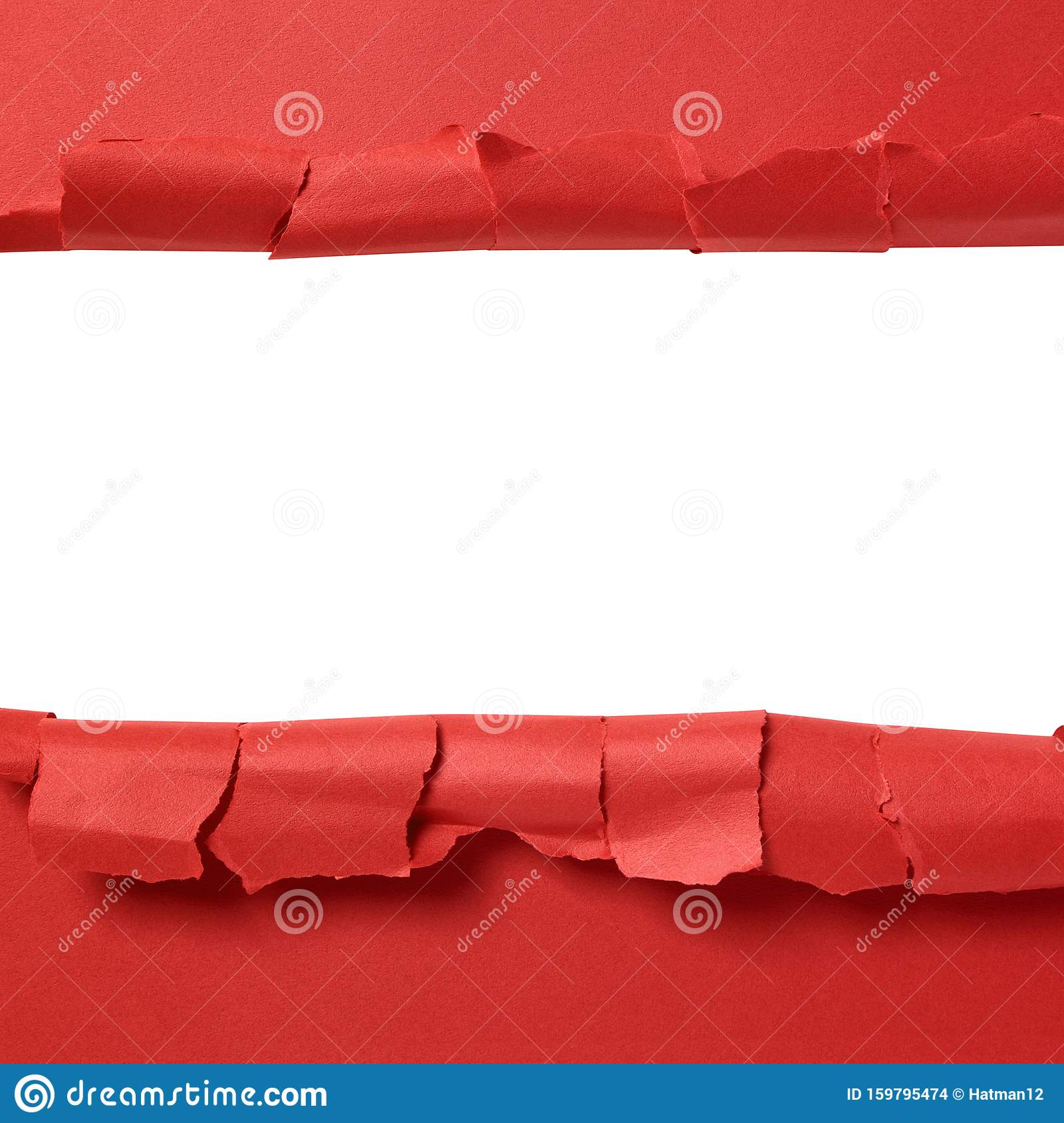 torn red paper strip with white background copy space stock photo image of strip paper 159795474 dreamstime com