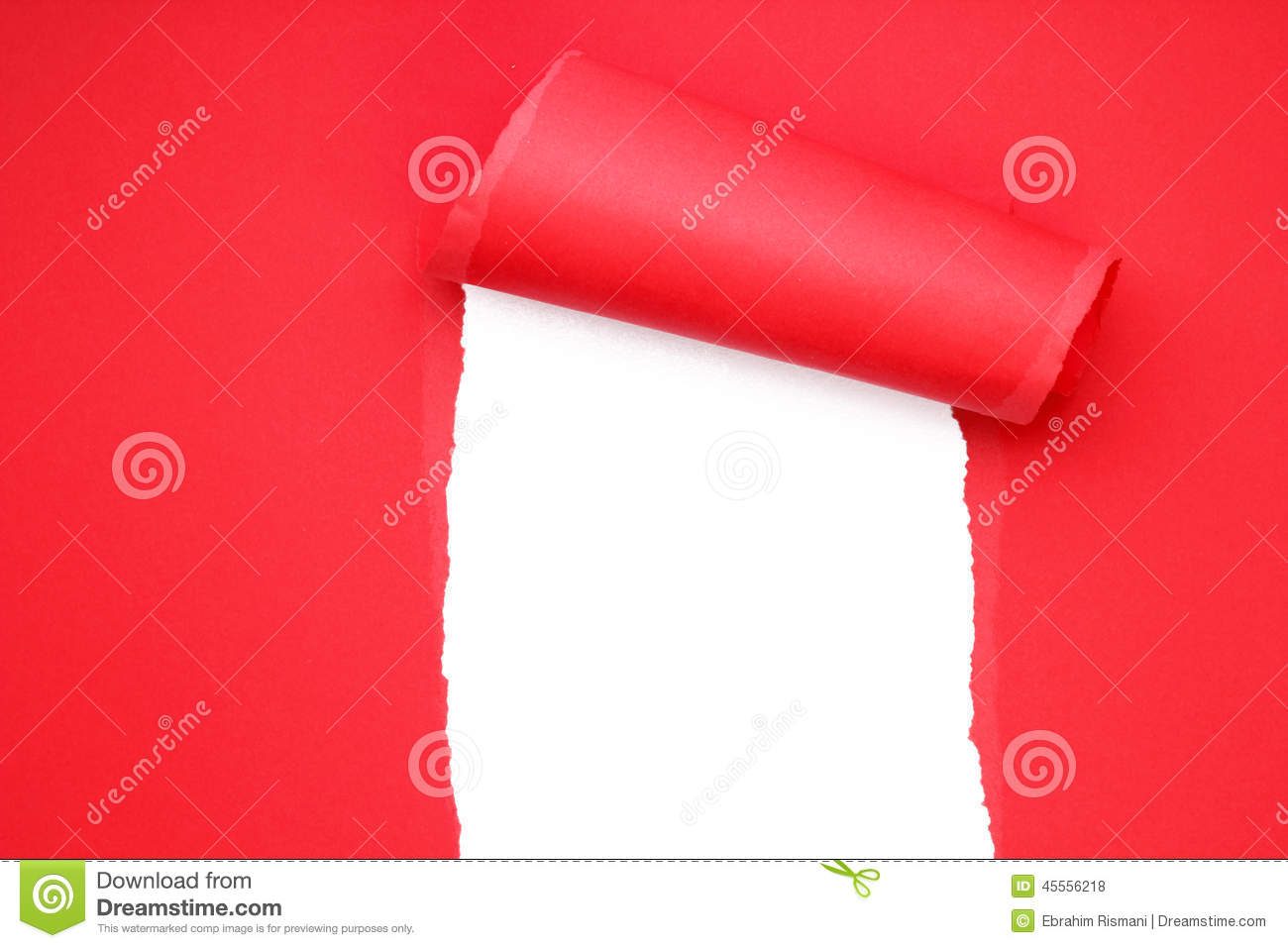 Torn red paper