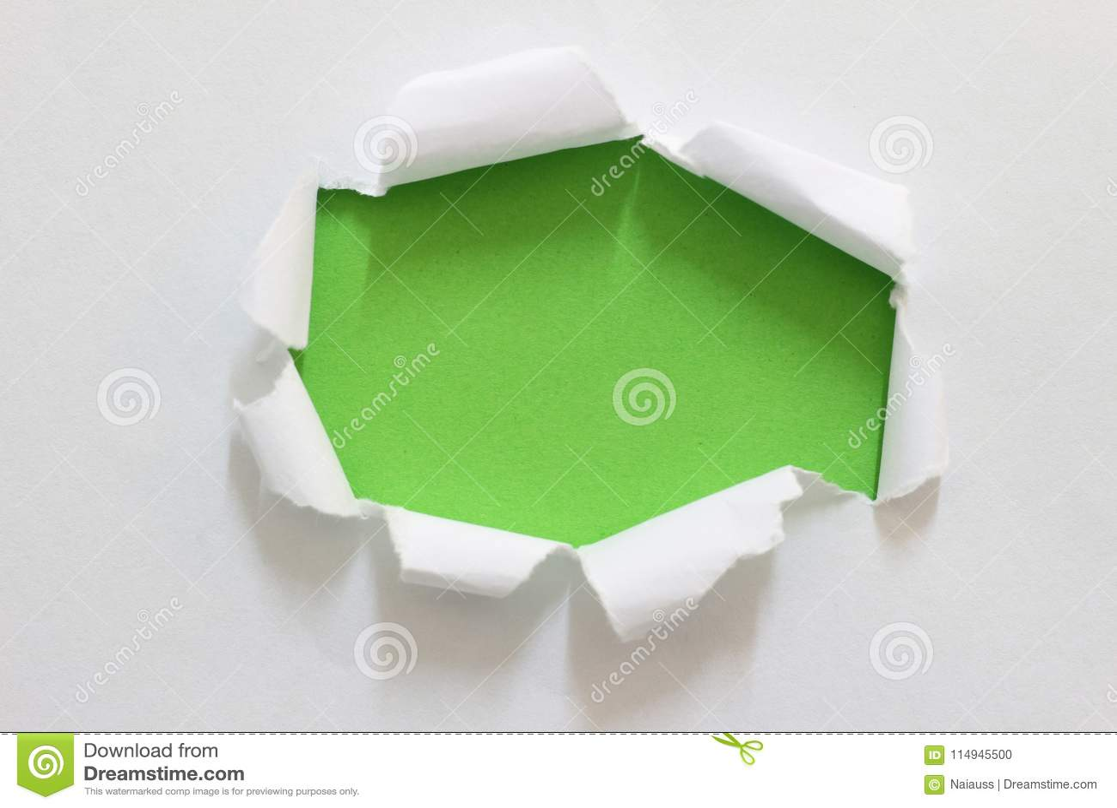 Torn rip paper