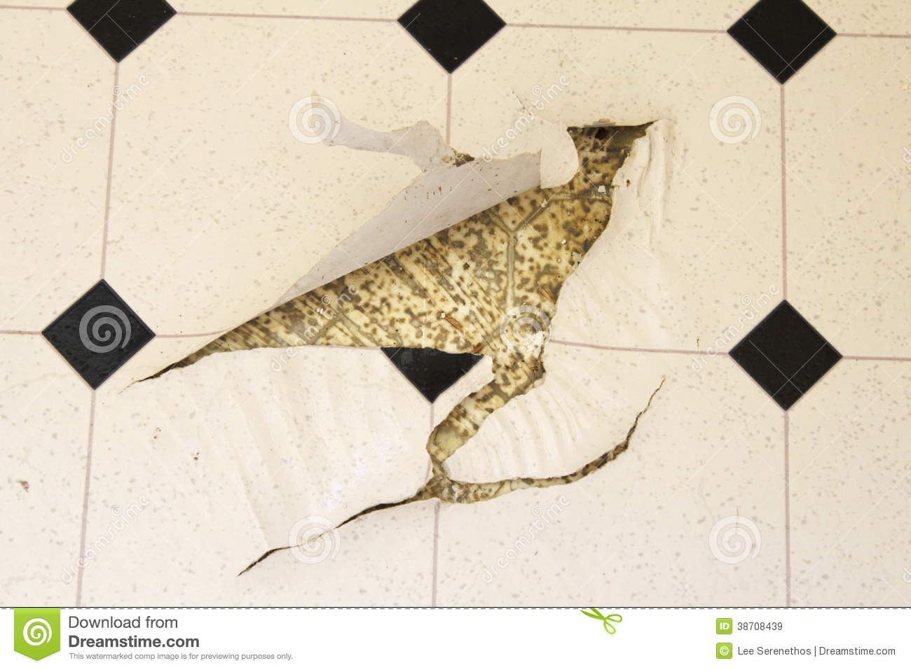 Torn Up Linoleum Floor Royalty Free Stock Images Image