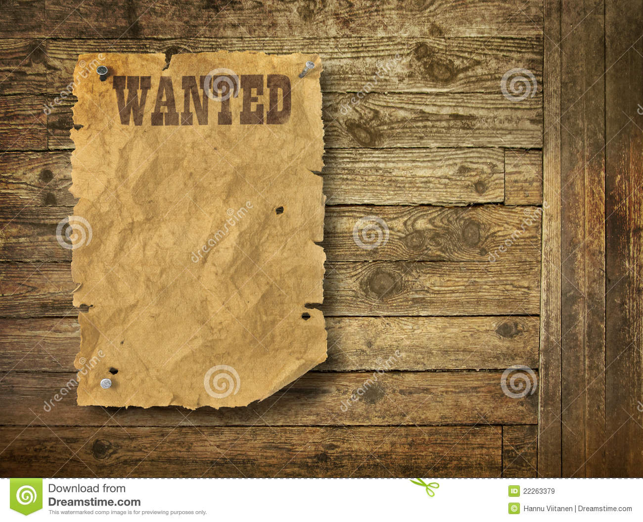 Torn Wild West Wanted Poster Royalty Free Stock Images - Image ...