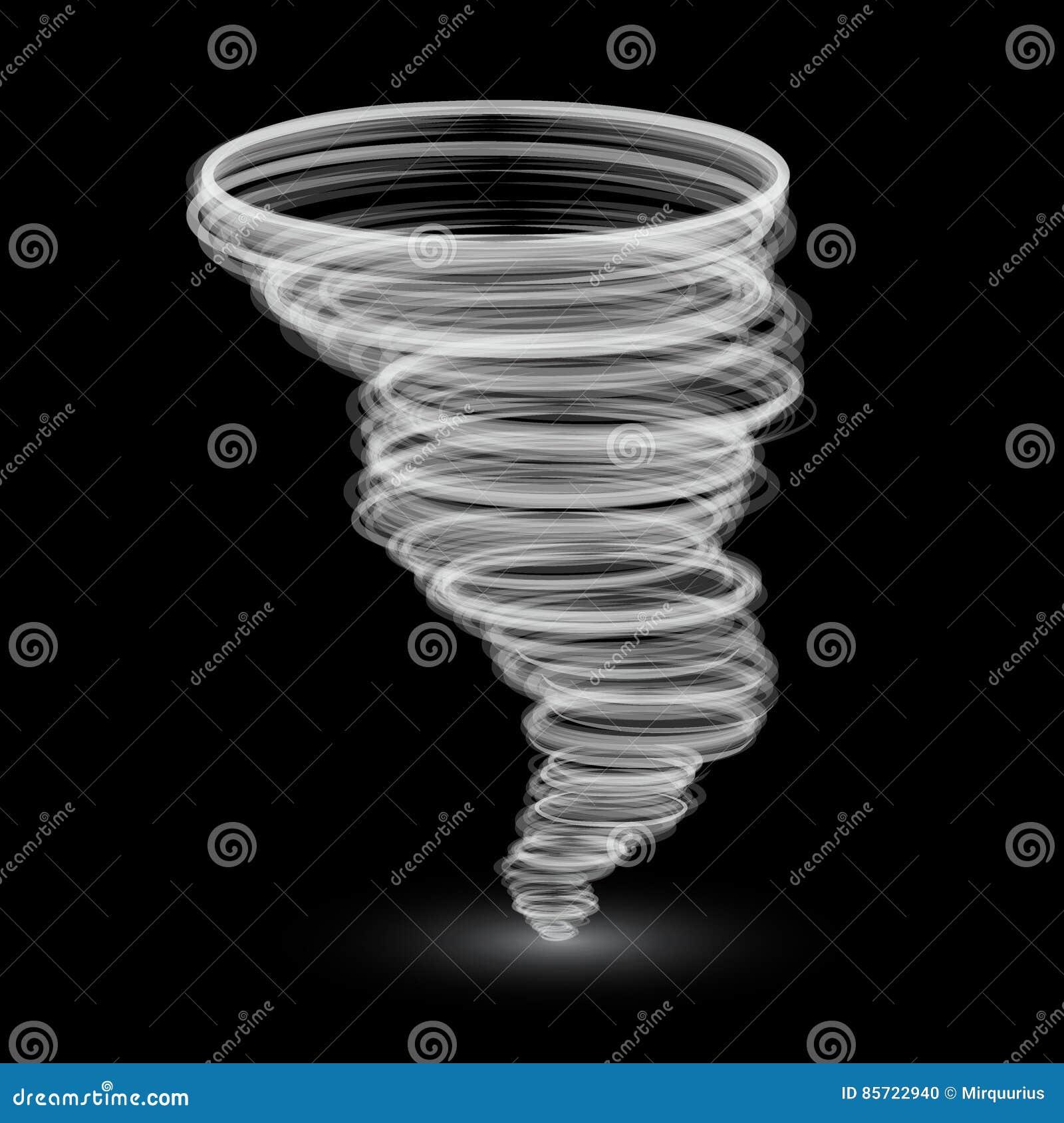 Tornado blanco abstracto