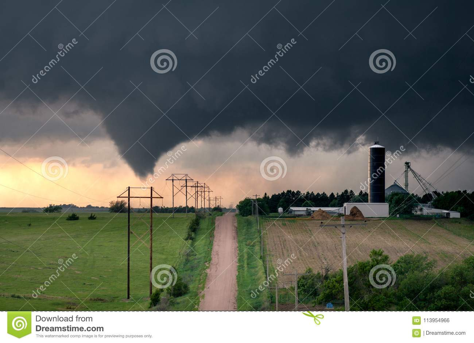 Tornado in centraal Nebraska