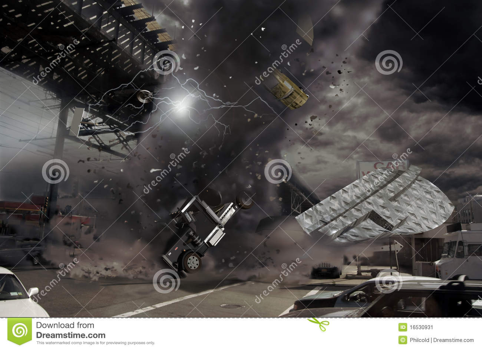 Tornado in the city