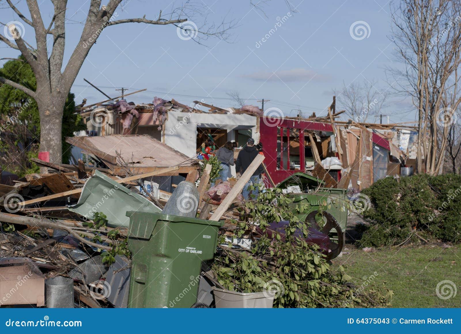 Tornado Damage to Brick Home