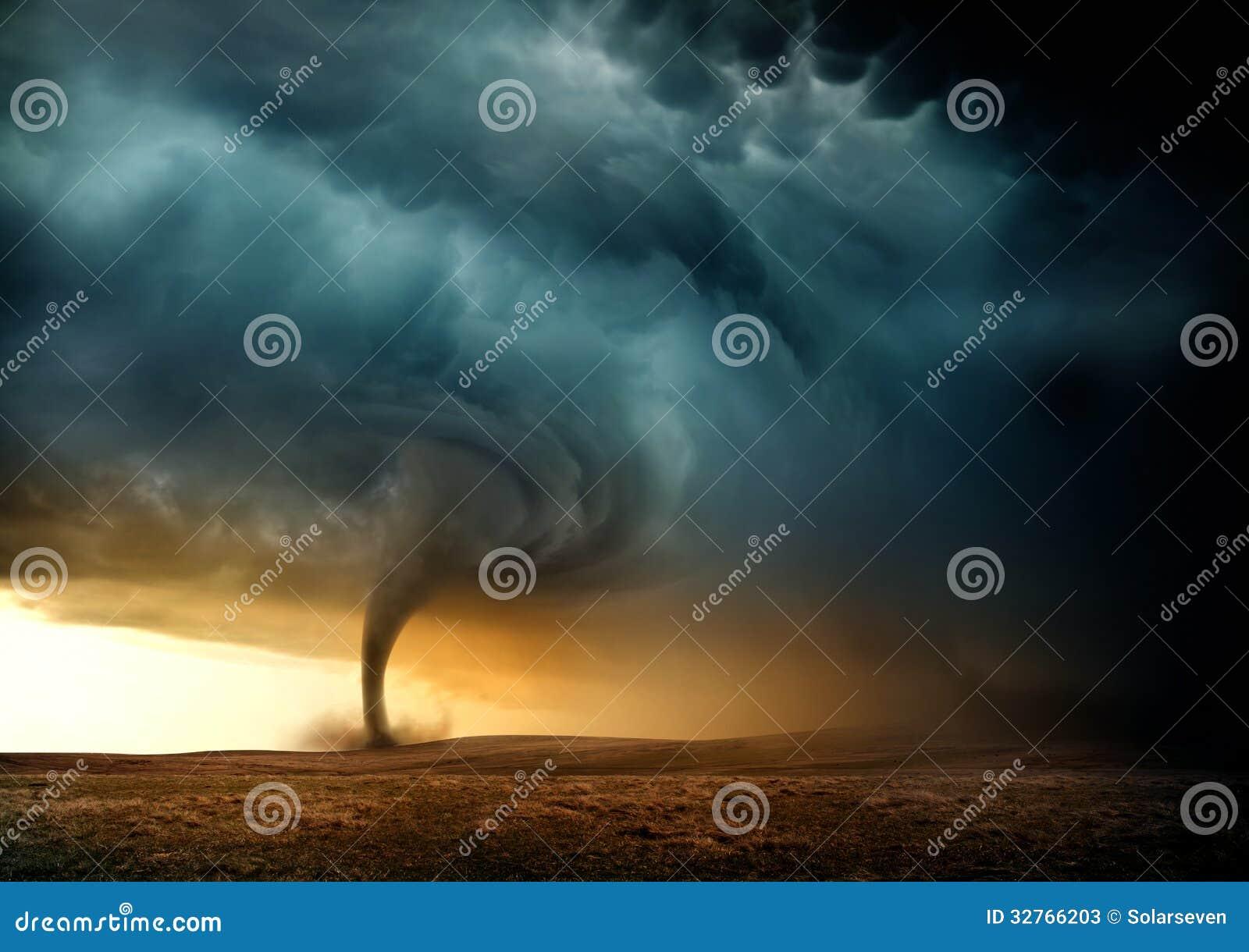 Tornado de la puesta del sol