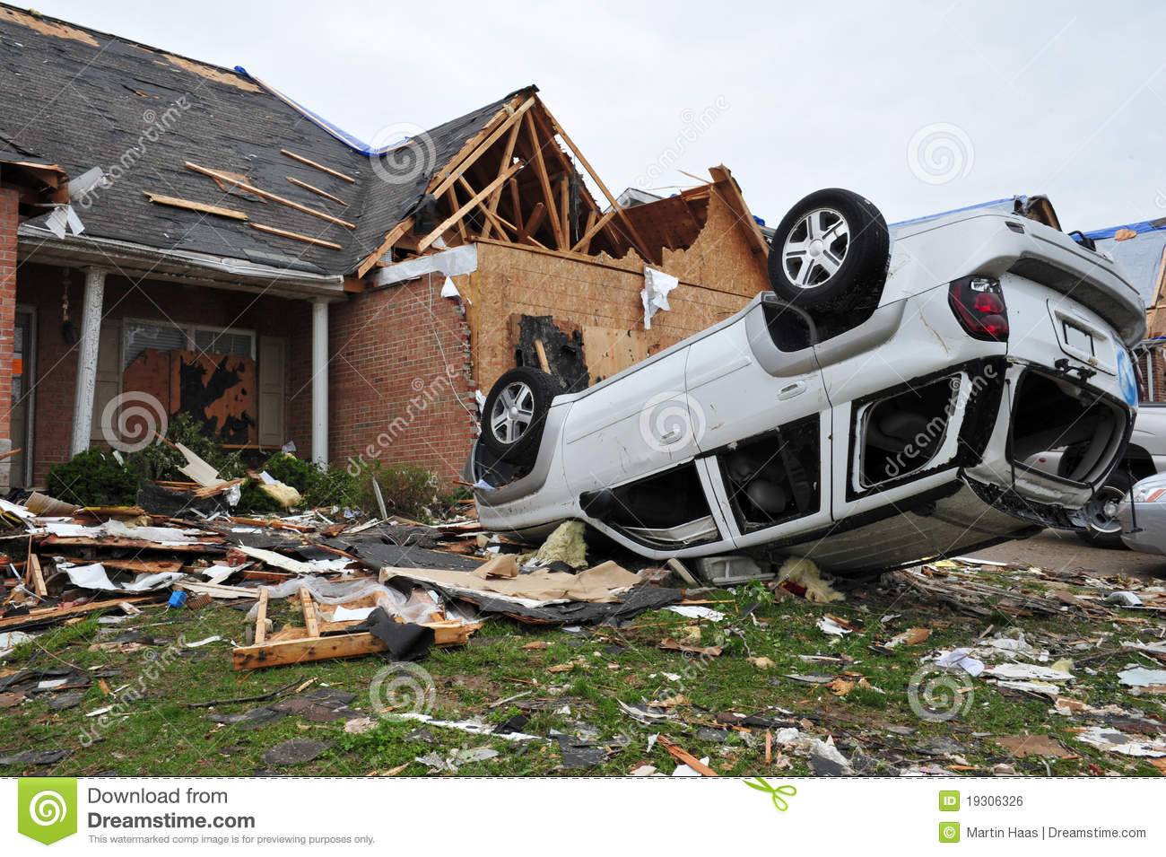 Tornado Destruction Stock Photo Image Of Broken