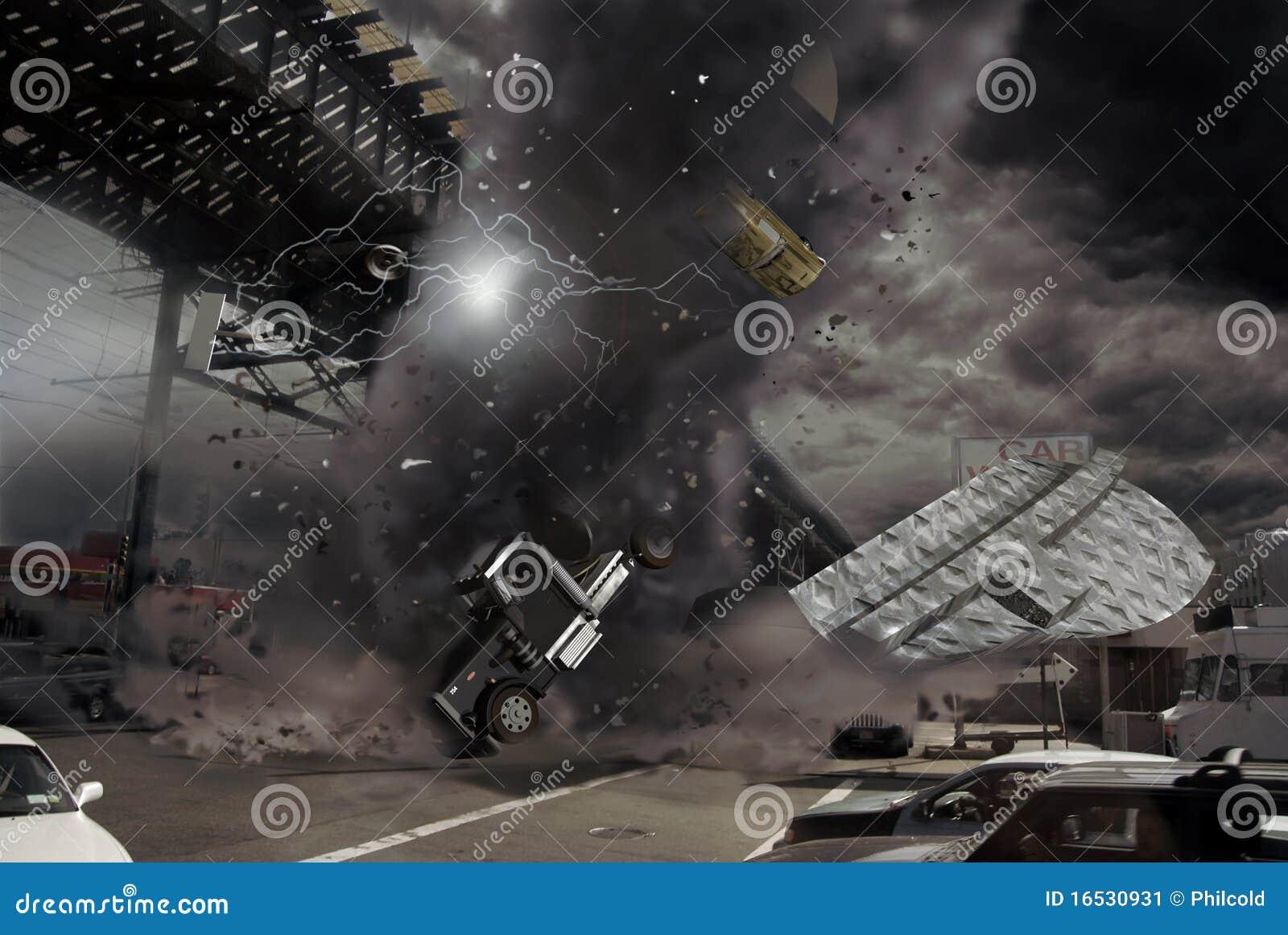 Tornado en la ciudad