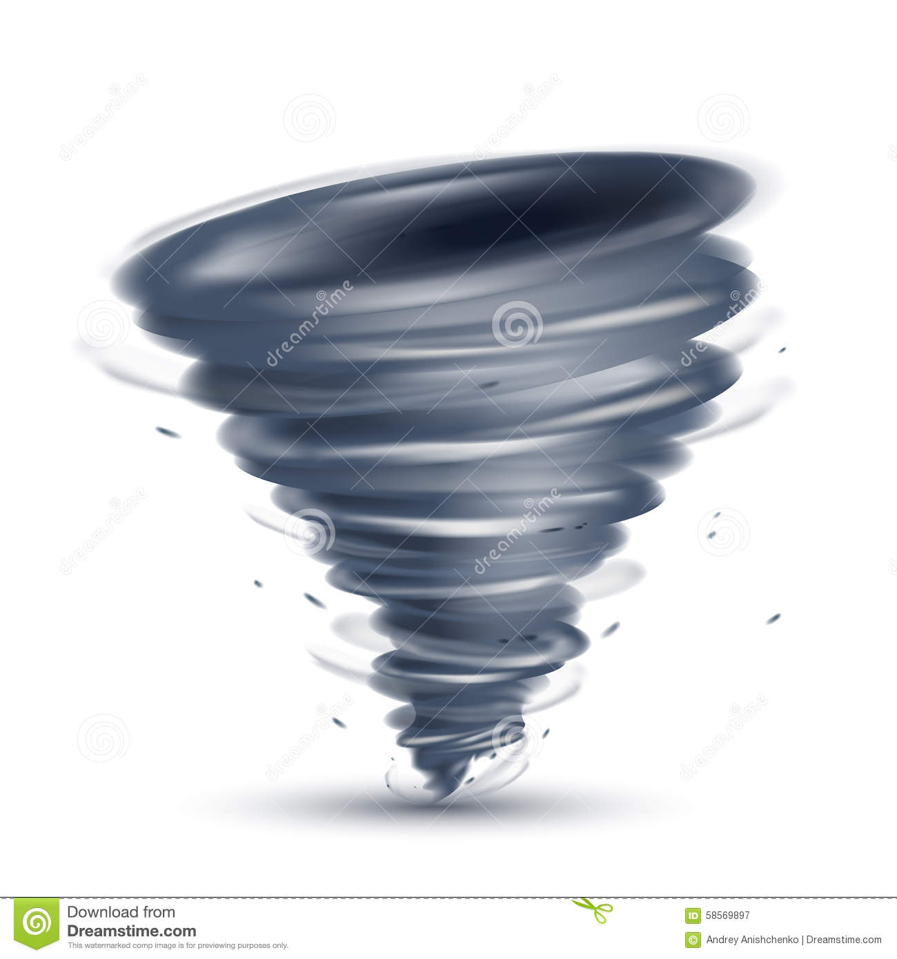 Tornado Illustration Stock Vector - Image: 58569897