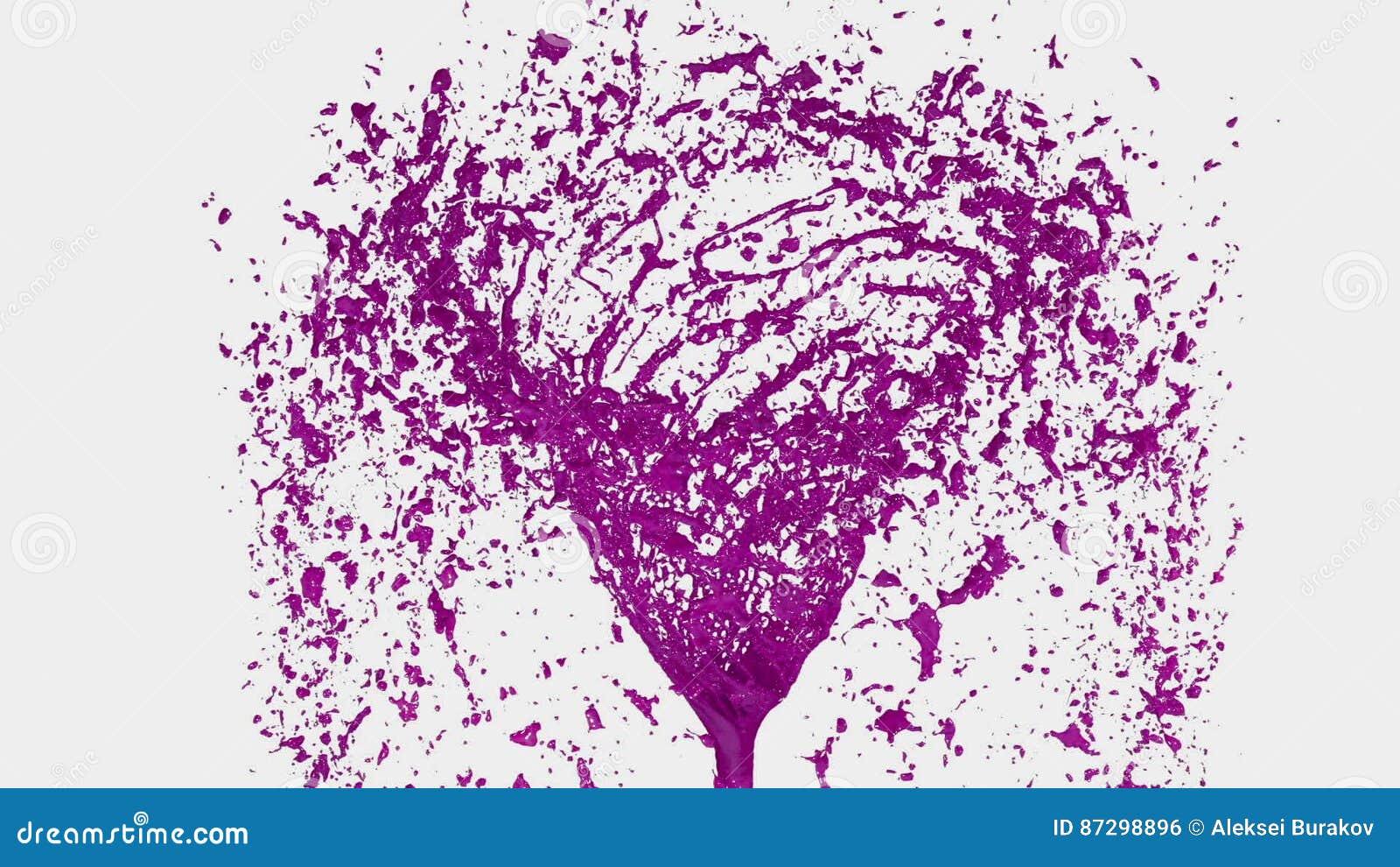 Tornado Líquido Púrpura Giro Coloreado Hermoso De La Pintura El ...