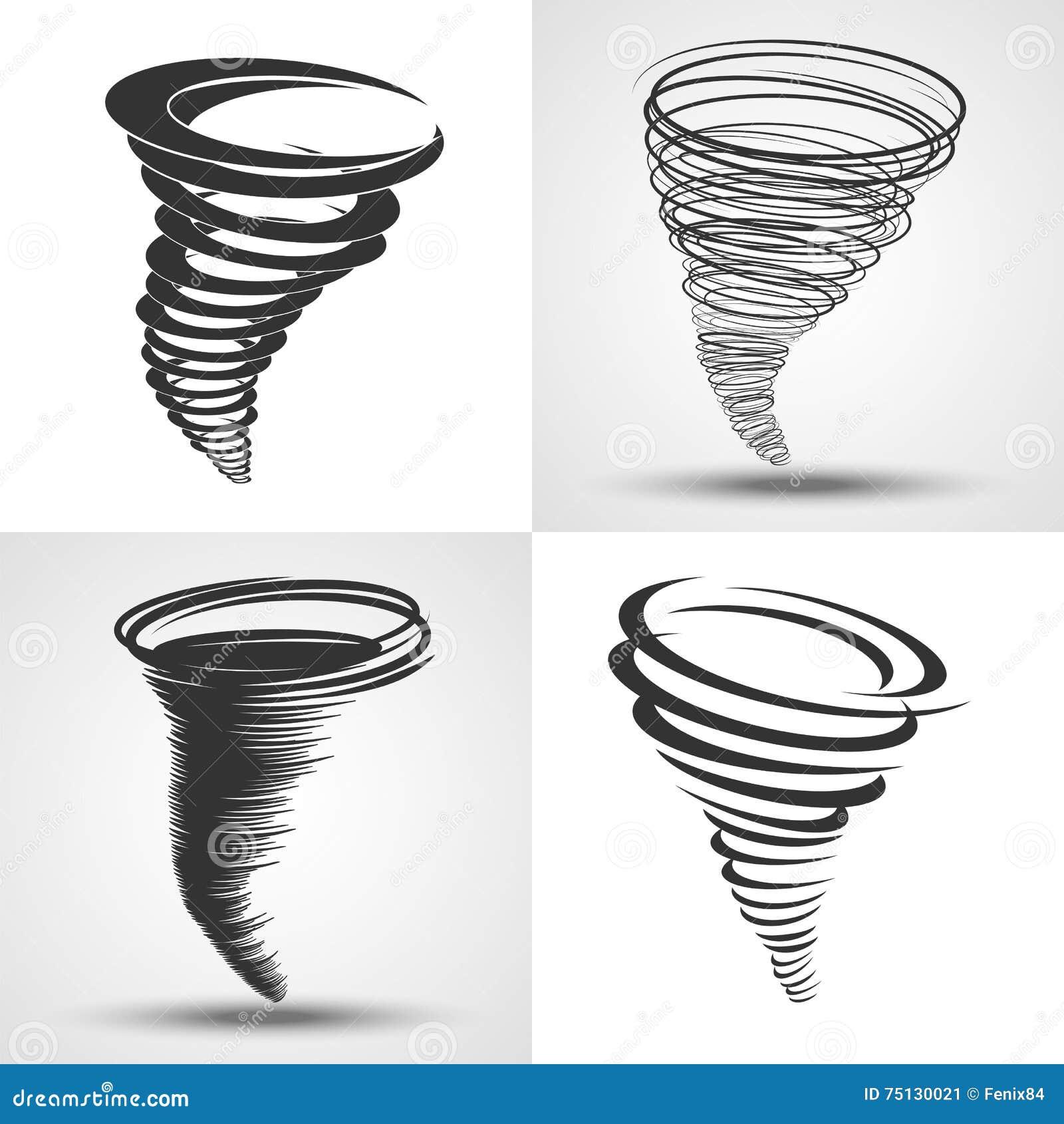 Tornado Símbolos De Las Condiciones Atmosféricas - Desastre Natural ...