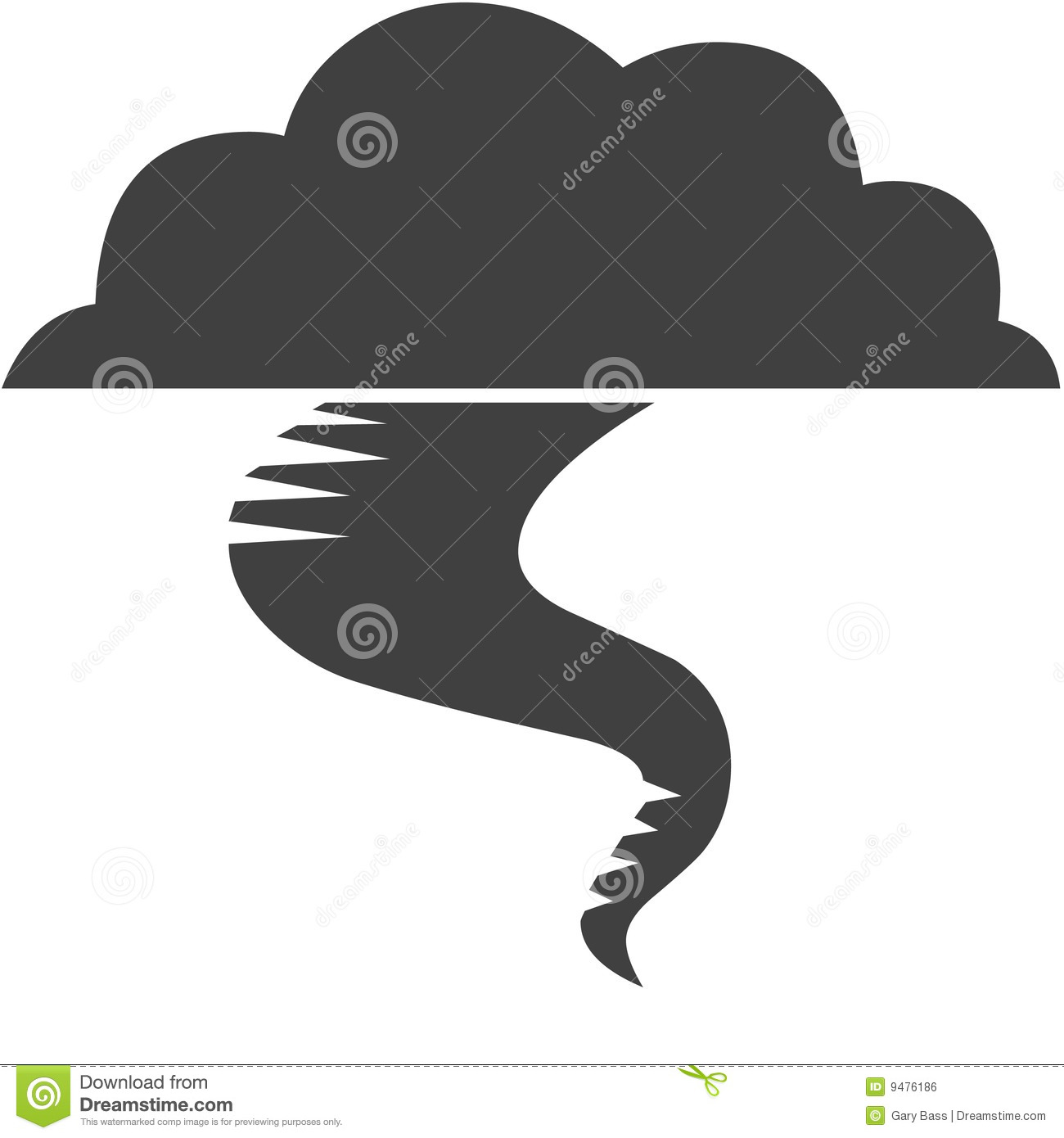 Tornado Symbol On Weather Map.Tornado Symbol Stock Illustration Illustration Of Weather 9476186