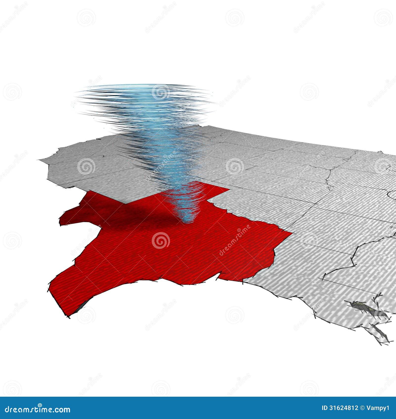 Map Of Tornadoes In Texas Yesterday.Tornado Texas Stock Illustration Illustration Of Arkansas 31624812