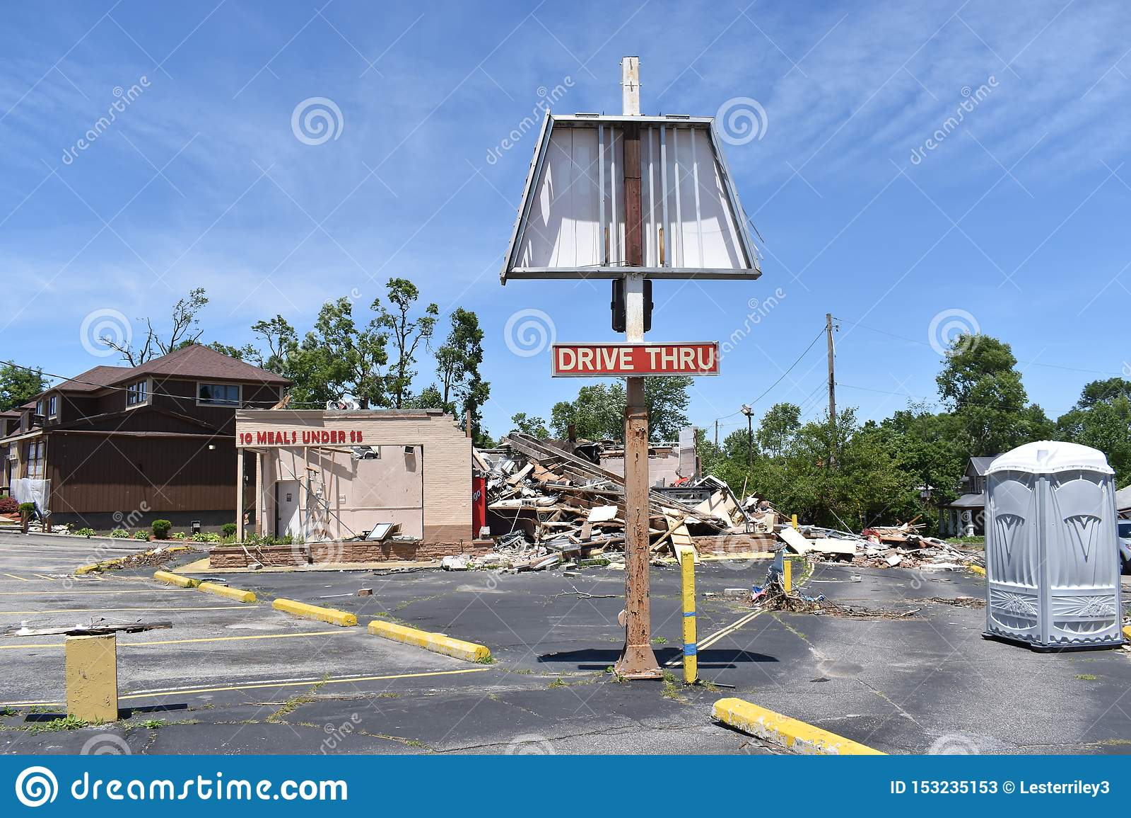 Tornado w Dayton, Ohio pobliże