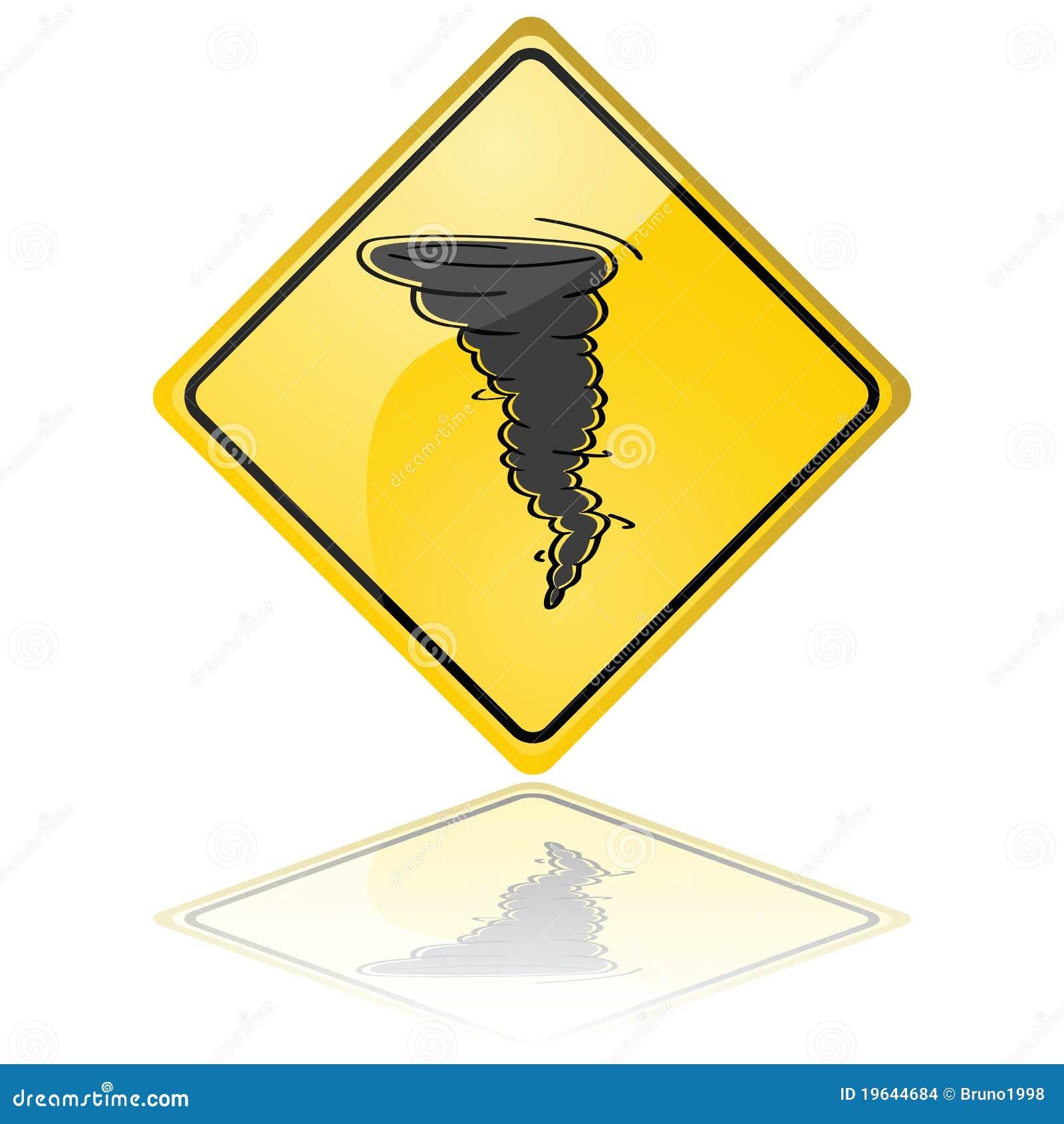 Tornado Warning Sign Stock Images Image 19644684