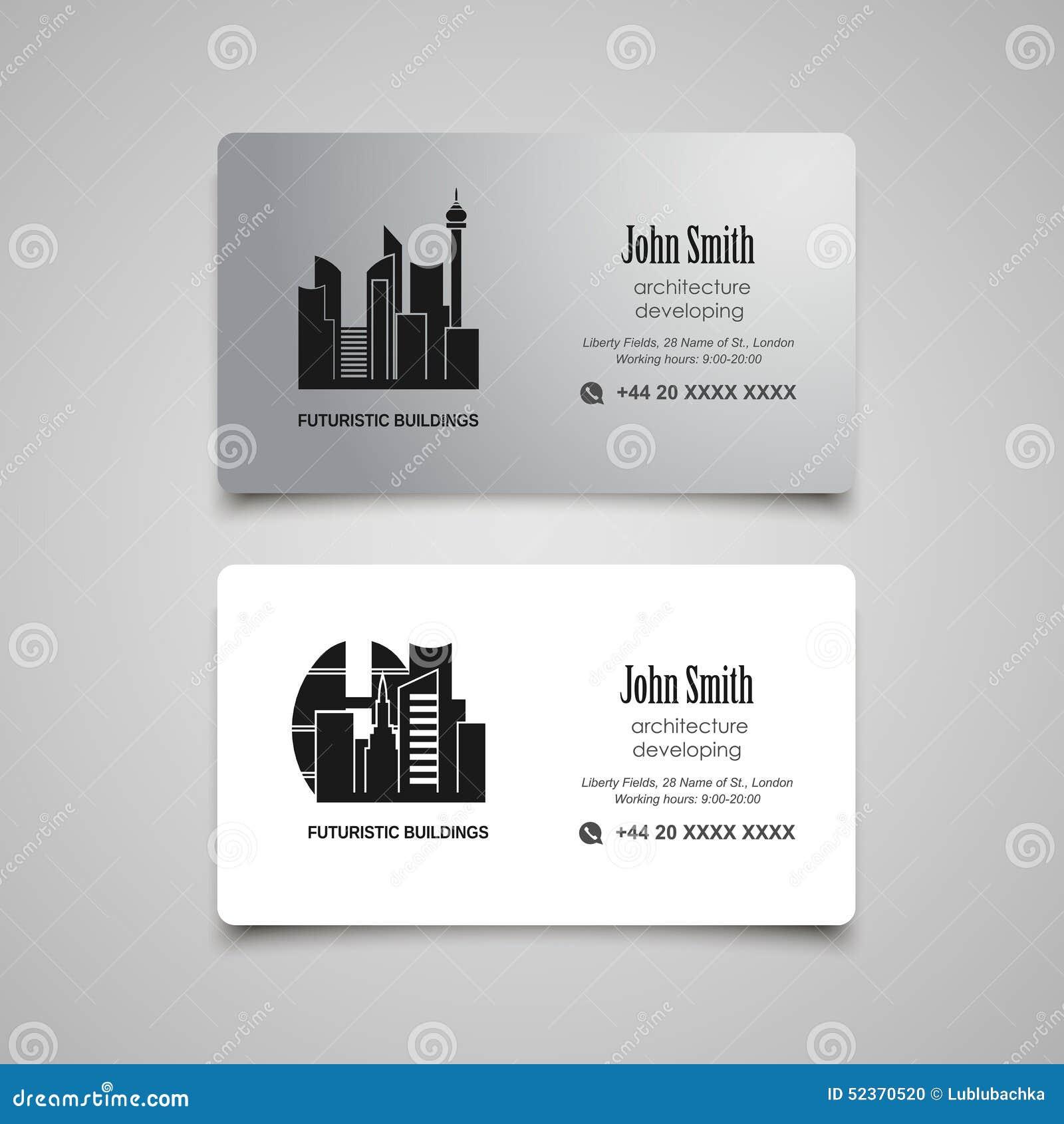 Tornar-se da arquitetura ou molde do vetor do cartão do aluguel