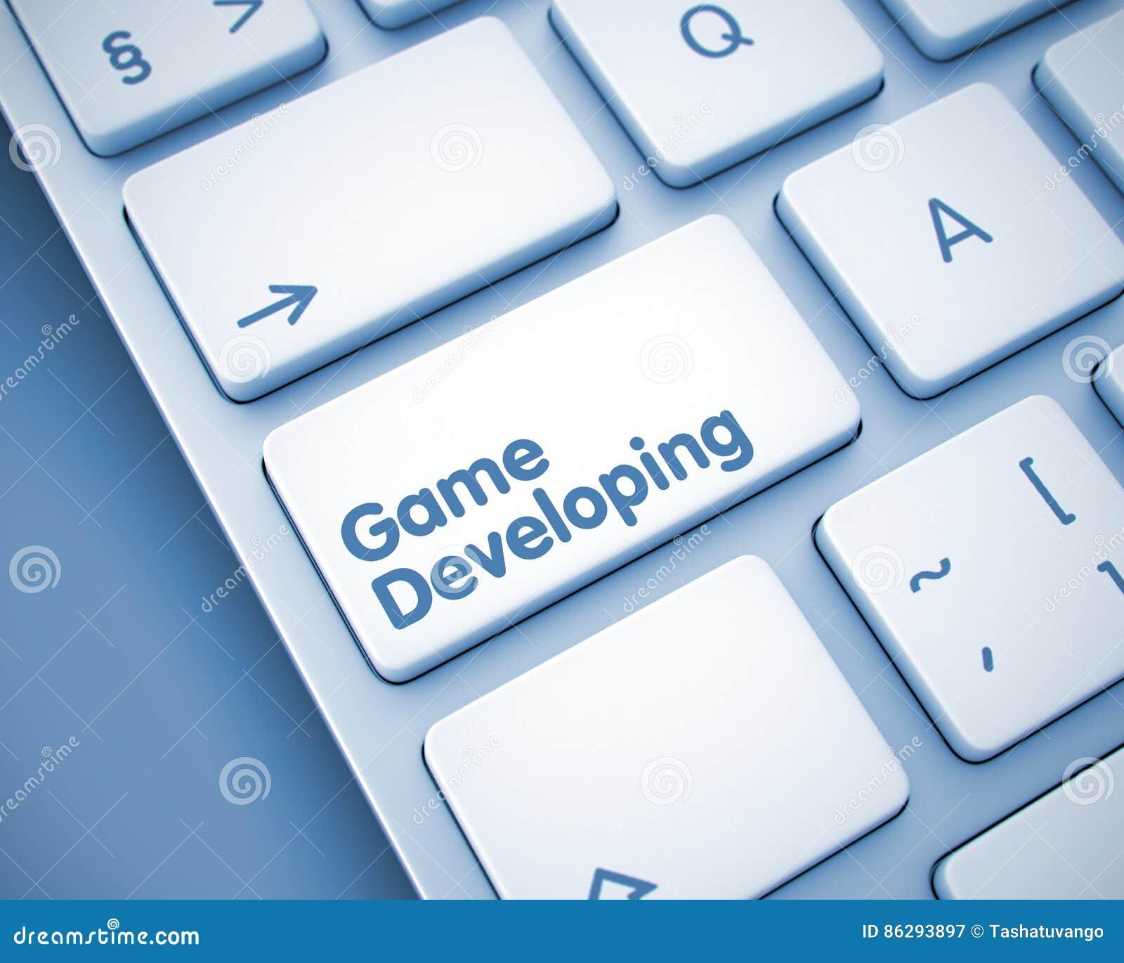 Tornar-se do jogo - texto na chave de teclado 3d